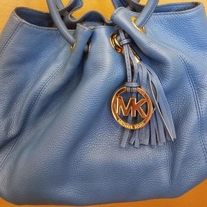 Michael Kors Blue soft leather purse